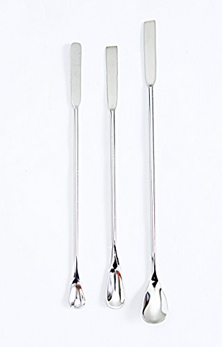 """PPT Lab wear - Spatula with Flat End and Spoon End, 9.5"""",8"""",8"""" Overall Length (Pack of 3)"""