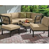 Cheap Outdoor Patio Sectional 7-Piece Stylish Furniture Sofa Set Seats Deep Seating