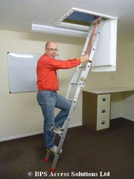 Slider 2 Section Sliding Loft Ladder - Floor to loft floor heights between 2.13m & 2.69m - Loft Ladders by BPS Access (Height Loft)