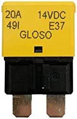 1 Pack Reset Low Profile ATC//ATO Circuit Breakers 14 VDC GLOSO E37 Auto 20A T1