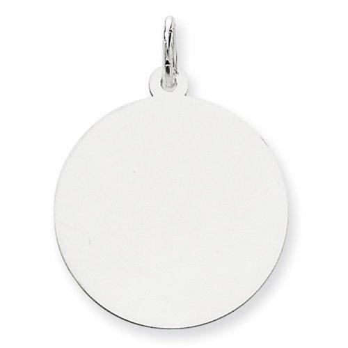 Icecarats Créatrice De Bijoux Or Blanc 14K Charme Disque Rond