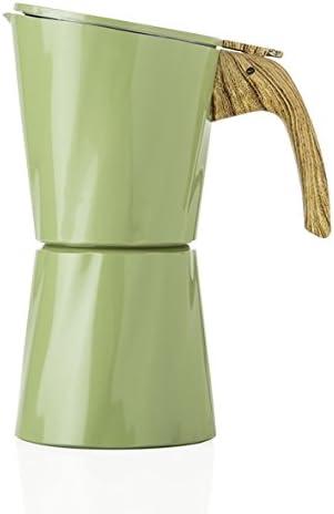 BRANDANI TOWER - Cafetera de aluminio (4 tazas), color verde: Amazon.es: Hogar