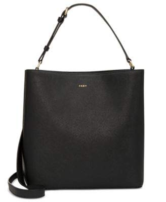 DKNY Samara Small North South Saffiano Leather Bucket Bag