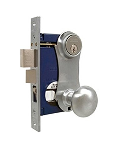 MARKS LOCK 21 SERIES SATIN CHROME UNILOCK 21AC MORTISE LOCK FOR SECURITY DOOR AND STORM DOOR (Right Handed)