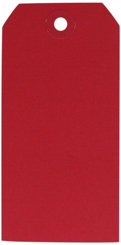 Maya Road ML2588 Manila Shipping Tags No.5 Scrapbooking Embellishments, Cherry Red (Tags Red Cherry)