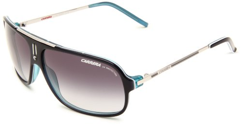 Carrera Cool/S Navigator Sunglasses,Royal Blue & Palladium Frame/Grey Gradient Lens,One (Palladium Blue Sunglasses)