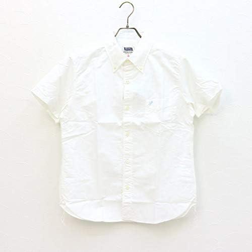 コットンリネン ボタンダウンシャツ PBDS1 メンズ 日本製 半袖 綿麻 オックスフォード