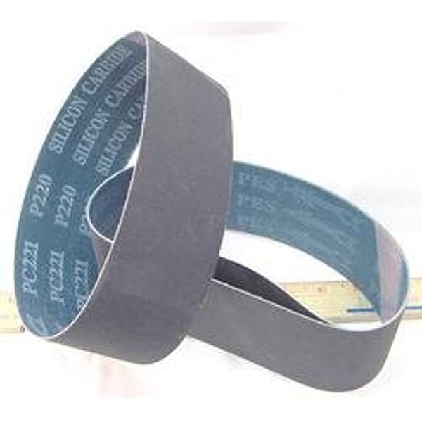 3 6 X 2 1//2 X 18 15//16 400 Grit Silicon Carbide Lapidary Grinding Belt for 6 Expandable Rubber Drum