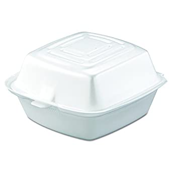 Amazon.com: Dart 50HT1 5 in Med Sandwich Foam Hinged Container (Case of 500): Industrial & Scientific