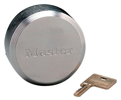 Master 6271KAW700A 80245 2-7/8'' Shackleless Keyed Alike Hockey Puck Style Lock - Quantity 4