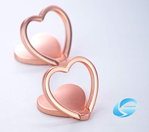 Cell Heart Phone - Phone Ring Stand Holder Cell Phone Smart Phones Tablet, 360 Degree Rotation 180 Degree Flipping Angle (Heart Shape)