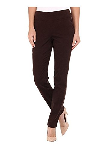 Miraclebody Janis Pull-On Tapered Sueded Sateen Pants Espresso Brown 4474SU