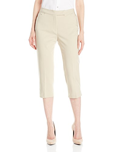 Classic Stretch Capris (Ruby Rd. Women's Plus Size Classic Fly Front Double-Face Stretch Capri, Chino, 18W)