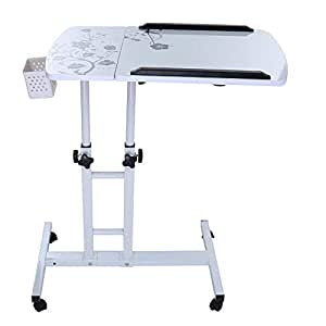 Buybuybuy Folding Laptop Table Stand for Bed, Portable Lap Desk Breakfast Tray for Sofa Couch Floor, Height Adjustable Tablet Reading Drawing Table, Standing Desk Computer Riser, Outdoor Camping Table