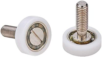 Almohadillas mampara de ducha Ruedas de bola de repuesto de acero para puertas de ducha A deslizamiento juego de 2 unidades ec-3311: Amazon.es: Bricolaje y herramientas