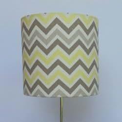 Handmade lamp shade color gray and yellow chevron size 7x 7 handmade lamp shade color gray and yellow chevron size 7x 7 lampshades amazon aloadofball Choice Image