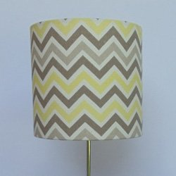 Handmade lamp shade color gray and yellow chevron size 7x 7 handmade lamp shade color gray and yellow chevron size 7quotx aloadofball