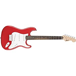 Squier Bullet Stratocaster Hard Tail Electric Guitar – Fiesta Red
