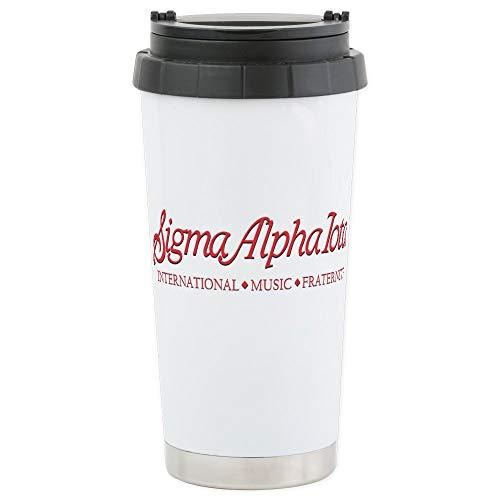 CafePress Sigma Alpha Iota Stainless Steel Travel Mug Stainless Steel Travel Mug, Insulated 16 oz. Coffee Tumbler