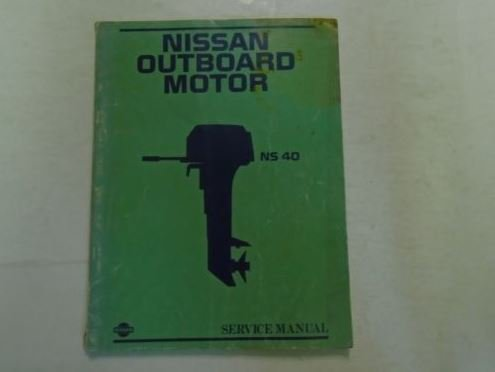 Nissan Outboard Motor NS 40 Service Manual OEM M- 223 M-7033500-O