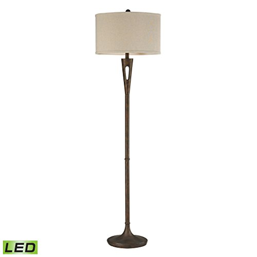Manhattan Collection Martcliff LED Floor Lamp in Burnished Bronze
