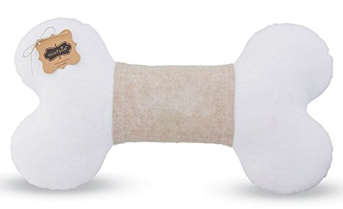 MUD PIE MONOGRAM DOG BONE PILLOW