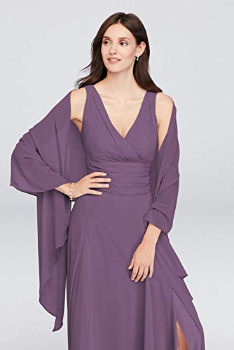 David's Bridal Sheer Chiffon Wrap Style OW2129, Wisteria -