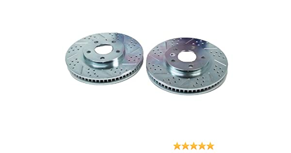 BAER 31267-020 Sport Rotors Slotted Drilled Zinc Plated Front Brake Rotor Set Pair