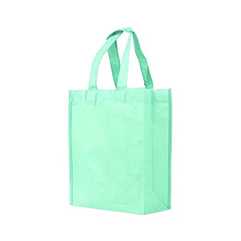 Reusable Gift / Party / Lunch Tote Bags - 25 Pack - Mint Green - Party Gift Bag