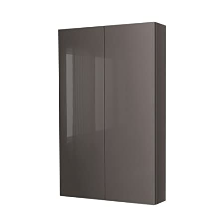 ikea godmorgon wall cabinet with 2 doors high gloss grey 90x14x96 rh amazon co uk
