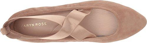 Taryn Rose Womens Edina Balletto Flat Soft Beige Setoso In Pelle Scamosciata