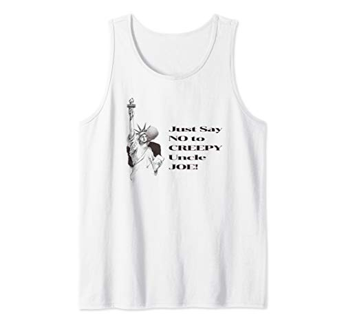 Creepy Uncle Joe Biden Statue of Liberty Funny Tank Top