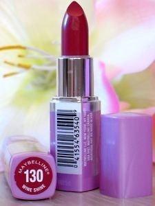 Lip Color Lipstick Wet Shine (Maybelline Wet Shine Lipstick, Wine Shine -2-Pack)