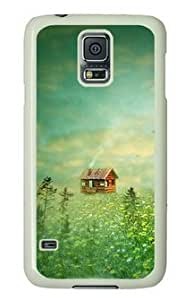 Cabin in the Forest Samsung Galaxy S5 White Sides Hard Shell Case by Sakuraelieechyan by mcsharks