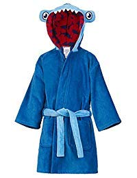 St. Eve Boys Beach Bath Robe/Swim Cover-Up (Medium (7/8), Blue/Shark) Boys Blue Cover Up