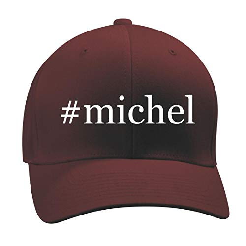08 Cap Obama (#Michel - A Nice Hashtag Men's Adult Baseball Hat Cap, Maroon, Large/X-Large)