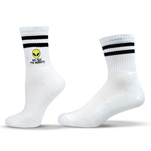 Unisox Weird Socks - Embroidered Pop Culture Socks with Alien Head - We Are The Weirdos ...
