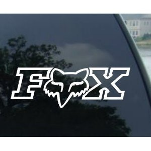 Fox Racing Decal X 2 Side Window Decal Sticker Wall Art
