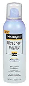 Neutrogena Ultra Sheer Body Spf100+ Mist Spray 5 Ounce (145ml) (2 Pack)