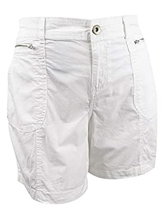 Style & Co. Plus Size Relaxed Shorts (Bright White, 24W)