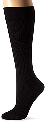 JOBST soSoft, Knee High Compression Socks, Ribbed, 8-15 mmHg, Black, LG ()