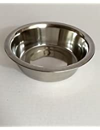 Get 2 Quart Stainless Steel Mixing Bowl for Kitchen Pet Dog Cat Food (64 oz) saleoff