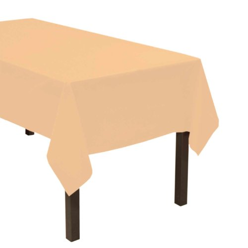 (Party Essentials Heavy Duty Plastic Table Cover Available in 44 Colors, 54
