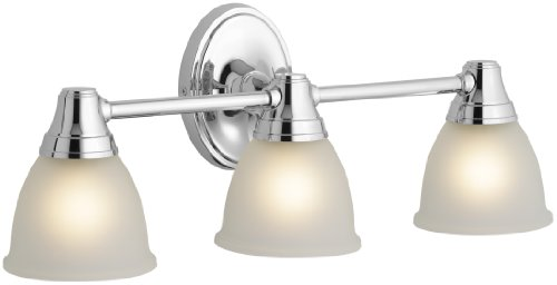 KOHLER K-11367-CP Forté Transitional Triple Light Sconce, Polished Chrome ()