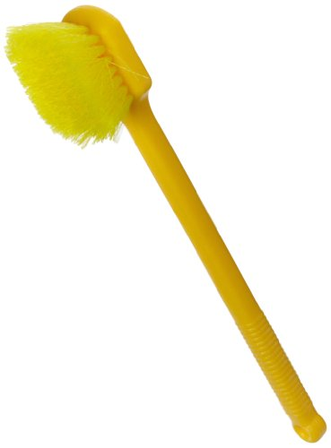 Rubbermaid Commercial 20 Inch Utility Brush, Plastic Handle, Syntheic Fill, Yellow (FG9B3200YEL)