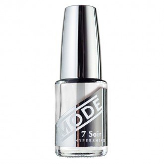 MODE Cosmetics, Nail Lacquer, HYPERSHINE TOP-COAT, Ultra High Gloss, Shiny Wet Look, Gel Shine Finish, Fast-Dry, UV Filter, Chip Defying Protection, Clear Nail Polish/Vegan/Cruelty Free/MADE IN NY USA