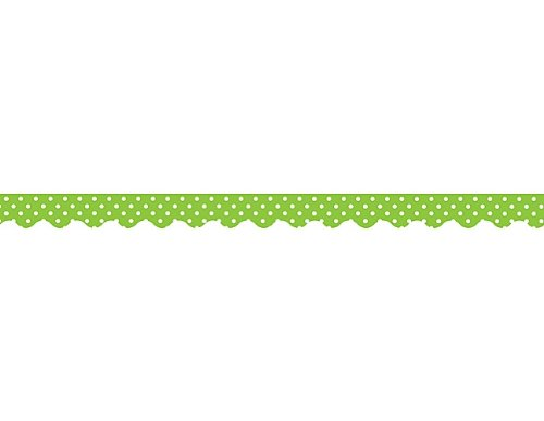 Teacher Created Resources Mini Polka Dots Border Trim, Lime (4669)