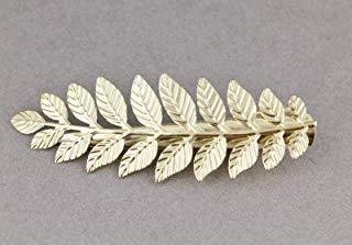 Gold Laurel Leaf Leaves Metal Side Alligator Gator Clip Hair Claw Bridal Prom Colored Hair Clips For Women - Alligator Rose