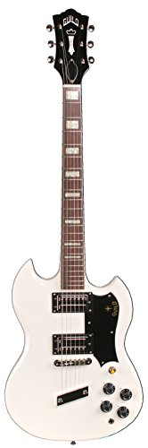 Guild S-100 Polara Solid Body Electric Guitar with Case (White)