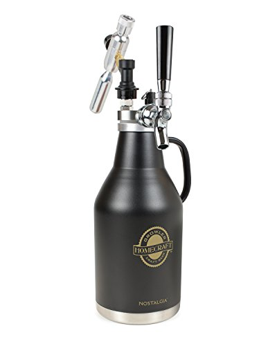 Nostalgia CBG64 Homecraft Beer Growler, Black by Nostalgia